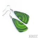 Zöld spirálok, ékszergyurma  fülbevaló , Süthető gyurmából készítettem ezt az igazán...
