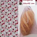 Bordó virágmintás 26x42 cm bevásárló tasak , NoWaste, Bevásárló zsákok, zacskók , Ez a tasak kiválóan alkalmas akkor, ha szoktál kilós kenyeret vásárolni, vagy 10 kiflit vagy zsemlét..., Meska