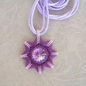 Sister Stars - Nővér csillagok gyöngyfűzött nyaklánc swarovskival (Lila), Ékszer, Medál, Nyaklánc, Ékszerkészítés, Gyöngyfűzés, Egy tiszta éjszakán, ha felnézel az égre, számtalan csillagot láthatsz ragyogni a fejed felett. Egy..., Meska