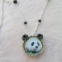 Pandamaci söröskupak nyaklánc, Aranyos, vidám és egyedi nyaklánc, a pandák sz...