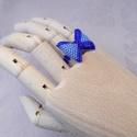 Kék masnis gyöngyfűzött gyűrű , Megrendelésre készült, parányi  kék színű m...