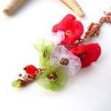 Kokárda helyett - réz, organza nyaklánc, Vörösréz drótból, piros, fehér, zöld organz...