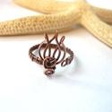 Tulipán - réz lábujjgyűrű, Vörösréz drótból készült lábujjgyűrű. A ...