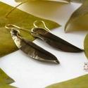 Fűzlevél - alpakka fülbevaló, Alpakka lemezből kovácsolt levél formájú fül...