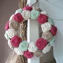 """Rózsakoszorú - """"Esős hajnal"""", 15 cm-es koszorú alapra készítettem rózsakoszo..."""