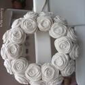 """Rózsakoszorú - """"Natúr"""", 15 cm-es koszorú alapra készítettem rózsakoszo..."""