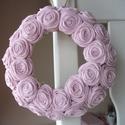 """Rózsakoszorú - """"Babarózsa"""", 15 cm-es koszorú alapra készítettem rózsakoszo..."""