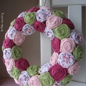 """Rózsakoszorú - """"Tavasz"""", 25 cm-es alapra készült ez a rószakoszorú. Kos..."""