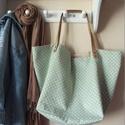 """""""Le sac"""" zöld és pöttyök - Táska, Egyedi kézműves termék, amelyből ilyen színö..."""