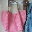 """""""Le sac"""" rózsaszín és pöttyök - Táska, Egyedi kézműves termék, amelyből ilyen színö..."""