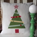 Mesés Karácsony - Vidéki romantika párnahuzat, Karácsonyi párnahuzat vidéki romantika stílusb...