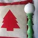 Karácsonyi varázs - Vidéki romantika párnahuzat, Karácsonyi párnahuzat vidéki romantika stílusb...