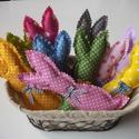 Egy kosárnyi húsvéti nyuszi (10 db) színes 1., Baba-mama-gyerek, Dekoráció, Húsvéti díszek, Varrás, Egy kosárnyi húsvéti nyuszi színes húsvéti színekben.  Nyuszik magassága: 17 cm Az ár a 10 db nyusz..., Meska