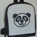 Panda hátizsák, Táska, Divat & Szépség, Táska, Hátizsák, Varrás, Panda fekete-fehér  gyermek hátizsák.  Textilbőrből készült, belseje merevített, vászon bélésű. A v..., Meska