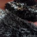 Teddy Bear garnitúra, Ruha, divat, cipő, Kendő, sál, sapka, kesztyű, Ún. szempillafonalból kötött garnitúra, mely sapkából és sálból áll. Sötétbarna és aranylóan csillog..., Meska