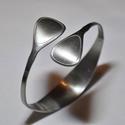 'Brilliance' - egyedi készítésű fém karkötő (KK024), Ékszer, Anyák napja, Karkötő, Egyedülálló ezüstösen csillogó keskeny karperec visszafogott, szolid stílusban.  Súlya 0,04kg Átmérő..., Meska