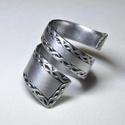 Szalag mintás csavart gyűrű (GY069), Saját készítésű elegáns, szalag mintás csav...