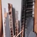 Kobei földrengés, Képzőművészet, Vegyes technika, Az alkotás rétegeltlemezre készült farostlemez felhasználásával.Méretei:84×45 cm., Meska