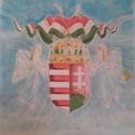 Magyar címer, Képzőművészet, Grafika, Rajz, Rajzlapra ceruzával,pasztellkrétával készült alkotás.Mérete:70cm×50cm., Meska