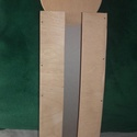 Rétegelt lemezből készült papírzsebkendő tartó, Mindenmás, Csináld magad leírások, Rétegelt lemezből készült faárú.Mérete:36cm×12cm, Meska