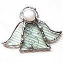 Karácsonyi Angyal - Tiffany tecnikával készült angyalka, Tiffany technikával, ékszerüvegből készített...