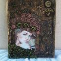 TEXTILKÉP, Dekoráció, Képzőművészet, Kép, Vegyes technika, Textilkép, amelyet egy fa keret ölel körbe.  A kép mérete: 37*51 cm, Meska