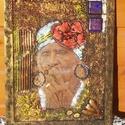 TEXTILKÉP, Dekoráció, Képzőművészet, Kép, Festmény, Decoupage, transzfer és szalvétatechnika, Mindenmás, Textillel és más anyag hozzáadásával akrilkép, fából készült kerettel Méretei: 33*43,5 cm, Meska