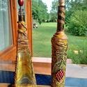 Díszített üveg, Férfiaknak, Hagyományőrző ajándékok, Sör, bor, pálinka, Vőlegényes, Mindenmás, A pálinkás illetve boros üvegek textil borítást kapnak, amelyet akrillal festek és impregnáló spray..., Meska