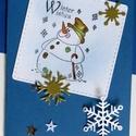 Karácsonyi képeslap, télapó mintás, ajándékkísérőként, írd bele saját jókívánságodat, Dekoráció, Naptár, képeslap, album, Ünnepi dekoráció, Képeslap, levélpapír, Papírművészet, Mindenmás,  Normál méretű képeslap , 220 g -os papírból készült.   Nagyobb vagy más formában is elkészítem kér..., Meska