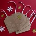 Karácsonyi ajándékkísérő, meghívó, Dekoráció, Karácsonyi, adventi apróságok, Ajándékkísérő, képeslap, Karácsonyi dekoráció, Papírművészet, Újrahasznosított alapanyagból készült termékek, Karácsonyi ajándékkísérők.   6x 9 cm-es és 6x 10 es karácsonyi ajándékkísérő 890 ft Most kivételese..., Meska