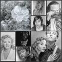 portrérajz, ceruzarajz, grafitrajz megrendelésre, évfordulóra, születésnapra egyéb alkalmakra, Esküvő, Képzőművészet, Grafika, Rajz, Fotó, grafika, rajz, illusztráció,  Készítek jó minőségben grafit rajzokat családtagok sztárok , házi kedvencek megrajzolását vállalom..., Meska