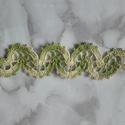 Horgolt karkötő zöld, színátmenetes, Ékszer, óra, Karkötő, Szép, elegáns karkötő, zöld, melírozott pamut fonalból.Különleges mintája teszi egyedivé...., Meska