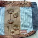 Vintage 3.., Táska, Válltáska, oldaltáska, A bohém hangulatú táska különböző textilek kombinációjaként született. Egyedi textilkép díszíti, ame..., Meska