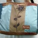 Vintage 5., Táska, Válltáska, oldaltáska, A bohém hangulatú táska különböző textilek kombinációjaként született. Egyedi textilkép díszíti, ame..., Meska