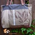 Szív-esen 1., Táska, Válltáska, oldaltáska, A bohém hangulatú táska különböző textilek kombinációjaként született. Egyedi textilkép díszíti, mel..., Meska