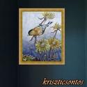 """Fényes madárka- akril festmény, Képzőművészet, Festmény, Akril, """" ... Egy fényes kismadár torkát megnyitotta. ...""""    Jankovich Ferenc Keretre feszített vászonra ké..., Meska"""