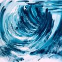 """""""Örvényből szabadulva""""- festmény, Képzőművészet, Dekoráció, Otthon, lakberendezés, Festmény, 24x32 cm-es akril festmény.  Eredeti, egyedi festmény, adott pillanat érzelmeit fejezi ki.  Másolat,..., Meska"""