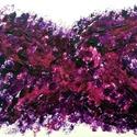 """""""Pillangó""""- festmény, Képzőművészet, Dekoráció, Otthon, lakberendezés, Festmény, Festészet, 10,5x15 cm-es akril festmény.  Ecsettel és festőkéssel készült. Eredeti, egyedi festmény, adott pil..., Meska"""