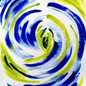 """""""Középpont""""-festmény, Képzőművészet, Dekoráció, Otthon, lakberendezés, Festmény, Festészet, 21x30 cm-es akril festmény.  Eredeti, egyedi festmény, adott pillanat érzelmeit fejezi ki.  Másolat..., Meska"""