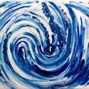 """""""Hullámok tánca""""- festmény, Otthon & lakás, Képzőművészet, Festmény, Dekoráció, Lakberendezés, 21x30  cm-es akril festmény.  Eredeti, egyedi festmény, adott pillanat érzelmeit fejezi ki.  Másolat..., Meska"""
