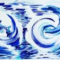 Lebegés - festmény, Képzőművészet, Dekoráció, Otthon, lakberendezés, Festmény, Festészet, 30x40 cm-es akril festmény.  Eredeti, egyedi festmény, adott pillanat érzelmeit fejezi ki.  Másolat..., Meska