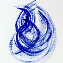 Dinamikus kékség - festmény, Képzőművészet, Dekoráció, Otthon, lakberendezés, Festmény, Festészet, 12x14 cm-es akril festmény  Eredeti, egyedi festmény, adott pillanat érzelmeit fejezi ki.  Másolat,..., Meska