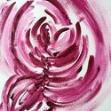 Összefonódva- festmény, Képzőművészet, Dekoráció, Otthon, lakberendezés, Festmény, Festészet, 24x32  cm-es akril festmény.  Eredeti, egyedi festmény, adott pillanat érzelmeit fejezi ki.  Másola..., Meska