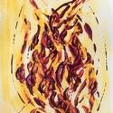 Nyár van - 6, Képzőművészet, Dekoráció, Otthon, lakberendezés, Festmény, 11x15  cm-es akril festmény.  Ecsettel és festőkéssel készült. Eredeti, egyedi festmény, adott pilla..., Meska