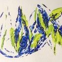 Tavaszra-várva-1 festmény, Képzőművészet, Dekoráció, Festmény, Akril, Festészet, 11x15  cm-es akril festmény.  Ecsettel és festőkéssel készült. Eredeti, egyedi festmény, adott pill..., Meska