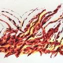 16/30 Napi festmény, Képzőművészet, Otthon, lakberendezés, Festmény, Napi festmény, kép, 11x15  cm-es akril festmény.  Ecsettel és festőkéssel készült. Eredeti, egyedi festmény, más..., Meska