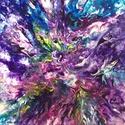 """""""Tavaszi-zsongás"""" - festmény, Művészet, Akril, Festmény, Festészet, 30x40 cm-es akril vászon festmény. Fluid technikával és festőkéssel készült.  Eredeti, egyedi festm..., Meska"""