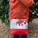 Alkalmi női táska, Táska, Divat & Szépség, Táska, Válltáska, oldaltáska, Varrás, - Alkalmi táska az ünnepnapokra.  - Mérete: 28x20 cm.  - Vállpántja 125cm ami kissebre állítható. -..., Meska