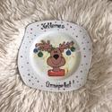 Karácsonyi tányér, Egyéb, Kézzel festett tányér Mérete:18cm A festék mosogatógépben mosható, alacsony hőfokon, Meska