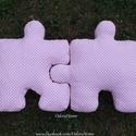 Puzzle párna szett - formapárna - dekorációs párna - ülőpárna - játszószőnyeg - NAGY méretű összeilleszthető párna, Baba-mama-gyerek, Gyerekszoba, Baba-mama kellék, Puzzle formájú párna szettet készítettünk, ami tökéletes ajándék a szerelmes pároknak, mivel összeil..., Meska